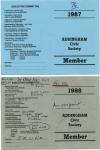 A.C.S.Membership Cards 1987 - 8a