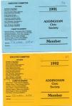 A.C.S.Membership Cards 1991 - 2a