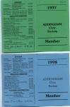 A.C.S.Membership Cards 1997 - 8a